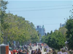 San Pablo Avenue during Love Our Neighborhood Day 2014