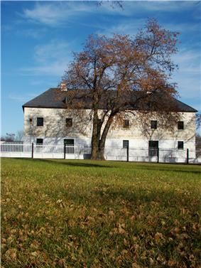 A stone building at Lower Fort Garry