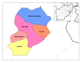 Baraki Barak District is located in the south-west of Logar Province.