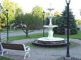 Fountain in Lowville