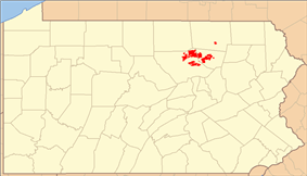 Location of Loyalsock State Forest in Pennsylvania