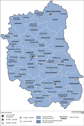 Division into counties