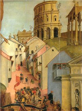 Luca signorelli, martirio di san sebastiano, dettaglio.jpg