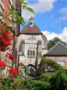 The belfry of Lucheux is a former city gate tower