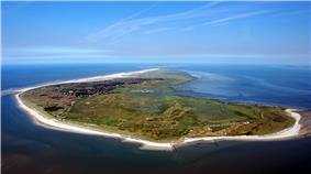 Aerial view of Spiekeroog from the west