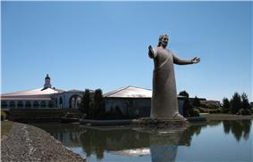Lux Mundi, the sculpture of Jesus at Solid Rock Church.jpg