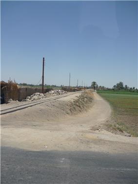 Narrow gauge railway used for sugar cane.