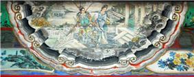 Depiction of Diaochan in the artwork at the Long Corridor, Forbidden City.