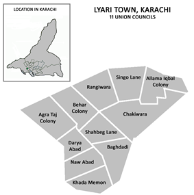 Union councils of Lyari Town