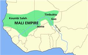 Map of the Mali Empire, circa 1350 AD