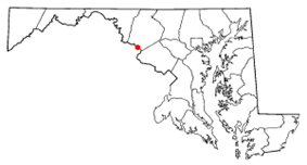 Location of Point of Rocks, Maryland