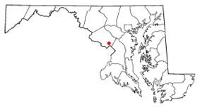 Location of Glenmont in the U.S. state of Maryland