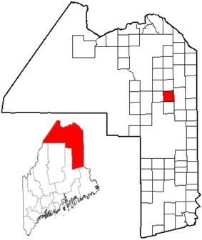 Location of Mapleton, Maine
