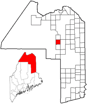 Location of Nashville Plantation, Maine