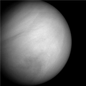 A more detailed image of Venus by MESSENGER on the second flyby of the planet