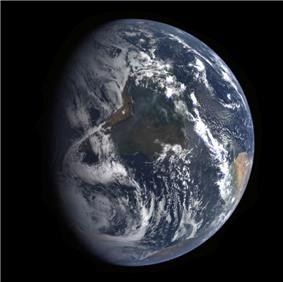 A view of Earth from ''MESSENGER'' during its Earth flyby