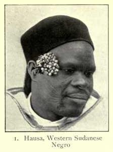 A Hausa man of classic Negroid type.