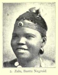 A Zulu Bantu woman of classic Negroid type