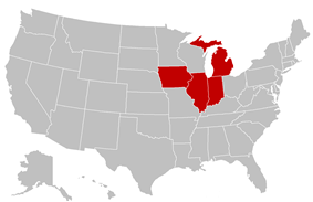 Mid-States Football Association locations