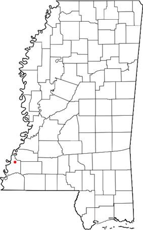 Location of Washington, Mississippi