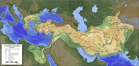 The Macedonian Empire at the time of the Lamian War.