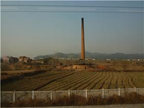 Semi-rural landscape near Macheng North Railway Station