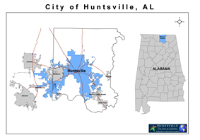 Location of Huntsville