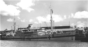 Dutch hospital ship Maetsuycker served as Southwest Pacific Area interbase hospital ship.
