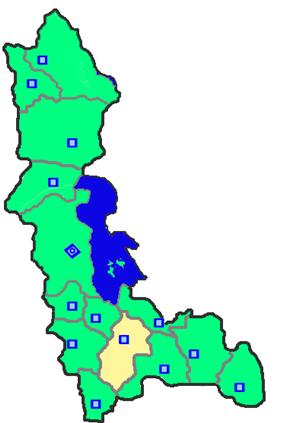 Location of Mahabad County in West Azerbaijan Province.