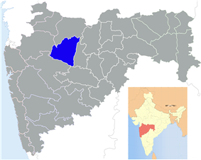 Location of Aurangabad district in Maharashtra