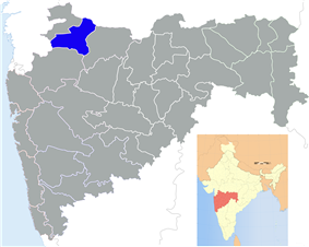 Location of Dhule district in Maharashtra