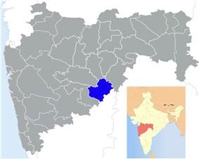 Location of Latur district in Maharashtra