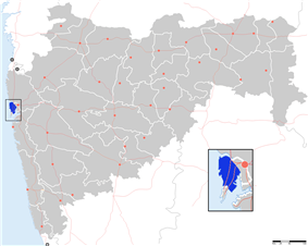 Location of Mumbai Suburban district in Maharashtra