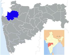 Location of Nashik district in Maharashtra
