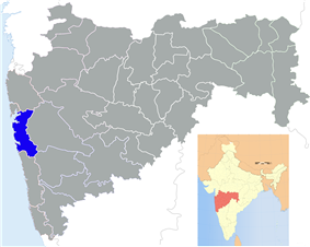 Location of Raigad district district in Maharashtra