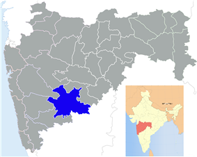 Location of Solapur district in Maharashtra