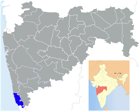 Location of Sindhudurg district in Maharashtra