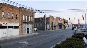 Junction of TN-52 and Main Street in Jamestown
