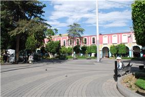 Part of the main plaza