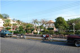 View of the main square of the city