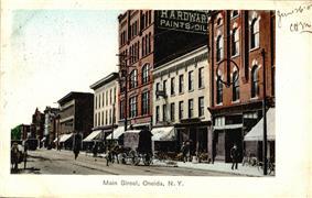 Oneida Main Street in a 1907 postcard