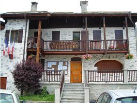 The town hall in Villaroger