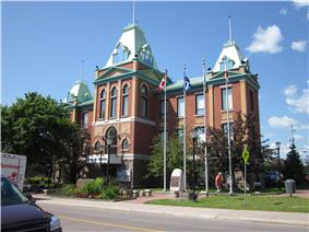 Roberval Town Hall in summer