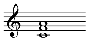 Second inversion F major chord: C,F,A.