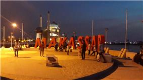 The Makassar seafront