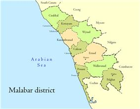 Location of Malabar District