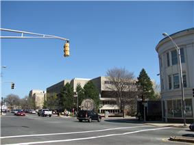 View of Malden High School