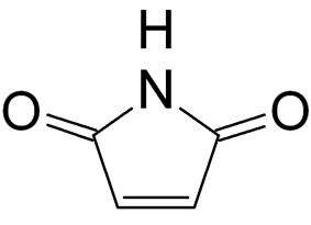 Structural formula of maleimide