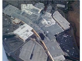 Aerial view of fire damage.