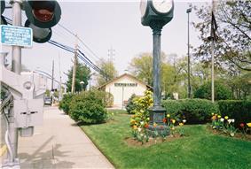 Malverne's main Long Island Rail Road station near the Village Hall.